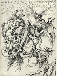 マルテイン・ションガウアーの聖アントニウスの誘惑1471~1475.jpg