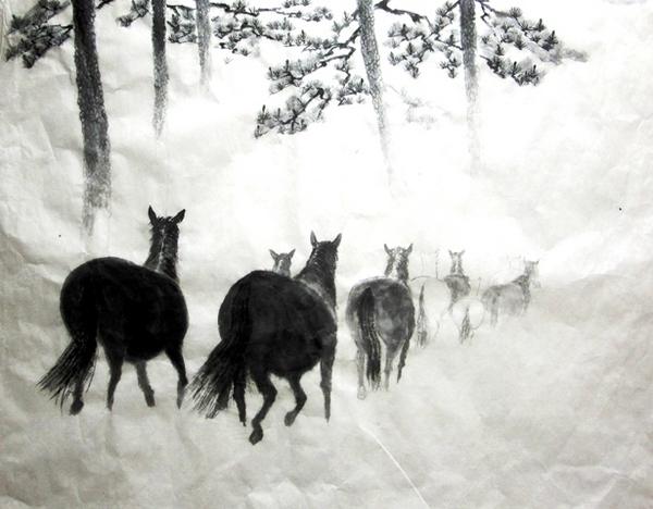 描きかけの県展出品作の一つ。『朝霧に向かって』.jpg
